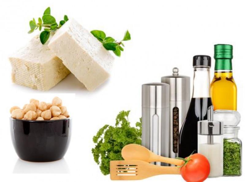 Antipasto di tofu e nocciole